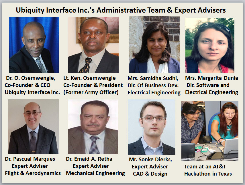 Ubiquity Interface Inc.'s Administrative Team and Expert Advisers